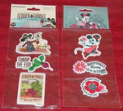 New Sealed Disney Parks Epcot Flower Garden Festival 2019 Embroidered Patches