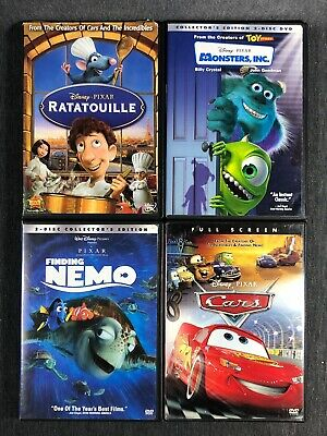 6ff5a5a49 Disney Pixar DVD Lot of (4) Ratatouille Monsters INC Finding Nemo Card (used