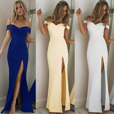 Women's Sexy Bridesmaid Prom Ball Gown Formal Evening Party Cocktail Maxi Dress