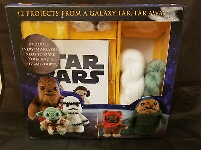 Star Wars 12 Characters YODA STORM TROOPER Amigurumi Crochet Kit Book Needle NEW
