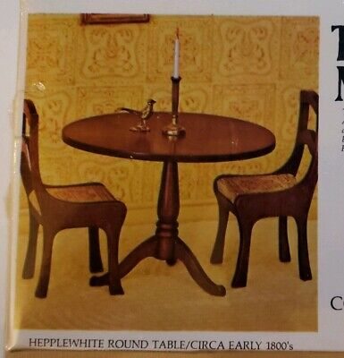 House of Miniatures Doll Hepplewhite Round Table 40005 NEW