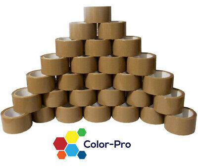 12x ROLLS OF BROWN CELLOTAPE PACKAGING PARCEL WAREHOUSE HOME TAPE 48mm x 66m