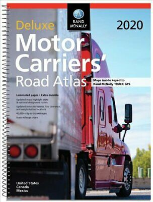 Rand McNally 2020 Deluxe Motor Carriers' Road Atlas 9780528021138 | Brand New