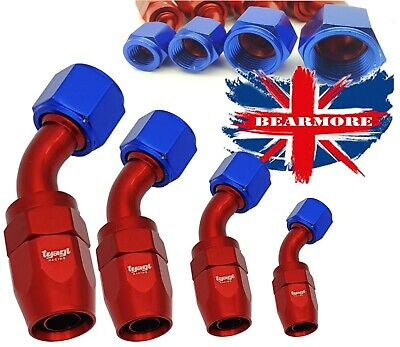 AN JIC 45 DEGREE Oil Fuel Reusable Aluminium Fittings Elbow Oil Adapter Hose End