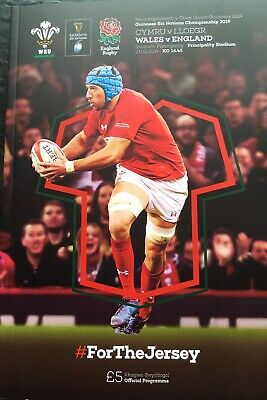 WALES v ENGLAND RUGBY INTERNATIONAL 2018/19 MINT