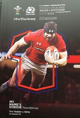 WALES v SCOTLAND RUGBY INTERNATIONAL 2018/19 MINT