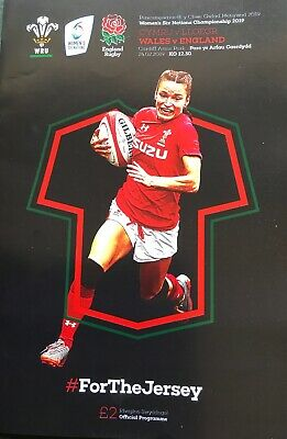 WALES v ENGLAND WOMENS SIX NATIONS CHAMPIONSHIP RUGBY INTERNATIONAL 2018/19 MINT