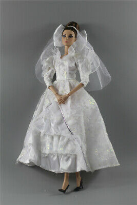 Fashion Royalty Princess Dress/Clothes/Gown+veil For 11.5 in. Doll c49