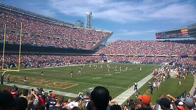 Chicago Bears Vs New Orleans Saints  10-20-19 Sect 119 Row 17 4 tickets