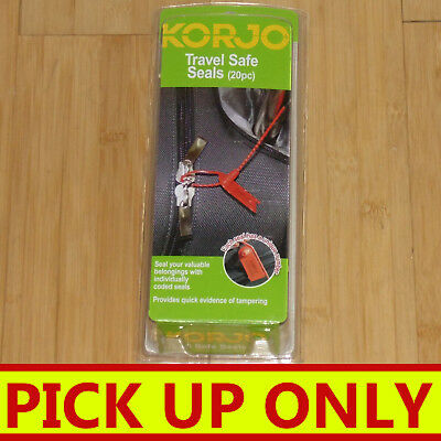 KORJO Travel Safe Seals (20pc) Secure your luggage [PICKUP ONLY vic]