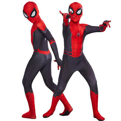 Spider-Man Far From Home Adult Kids Peter Parker Zentai Cosplay Costume Suit IT
