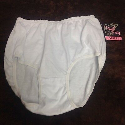 Vintage White Cotton Granny Panties 8 Underwear Sissy Brief Undies Perfect Panty