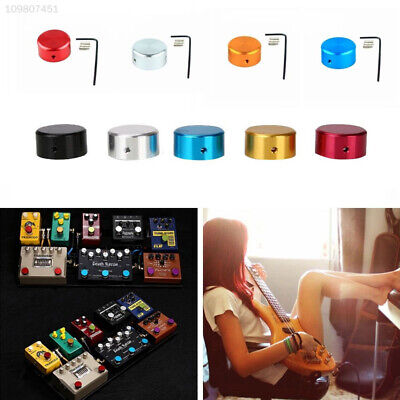 2F78 Guitar Foot Nail Cap Effect Pedal Cover Step Aluminum Parts Replacement