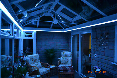Blue Remote Control LED Strip Light Set For Conservatory Sun-Lounge Orangery
