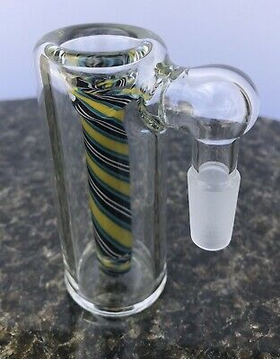 Glass Ash Catcher bowl 14mm Male 90 Degree  Colorful Downstem  Fixed