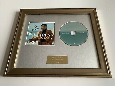 Personally Signed/Autographed Will Young - Lexicon Framed Cd Presentation
