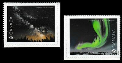 Canada 3103-3104 Astronomy 'P' set (from booklet of 10) MNH 2018