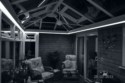 White Remote Control LED Strip Light Set Conservatory Sun-Lounge Orangery