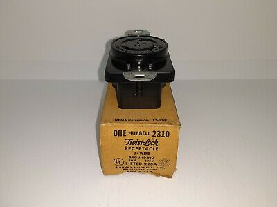 Hubbell 2310 Twist Lock Receptacle L5-20R 2 Pole 3 Wire 20A 125V HBL2310 NEW