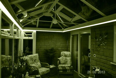 Warm White Remote Control LED Strip Light Set Conservatory Sun-Lounge Orangery