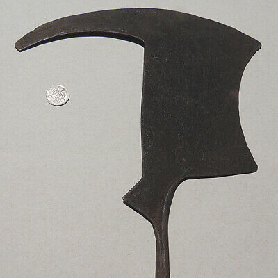an old antique forged iron ceremonial african knife kapiski cameroon #24