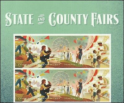 US 5401-5404 5404a State and County Fairs forever header block 8 MNH 2019