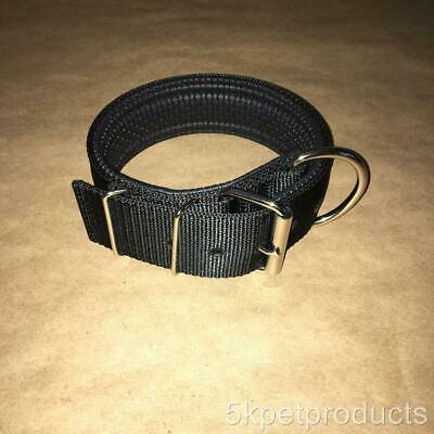 """Pit Bull Neoprene Padded Large Collar Heavy Duty Big Dog 2"""" Wide Double Ply"""