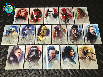 2017 Topps Star Wars Journey To The Last Jedi Complete Character Card Set/16 W@W