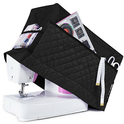 Sewing Machine Dust Cover for Most Standard Singer & Brother Machines (Black)