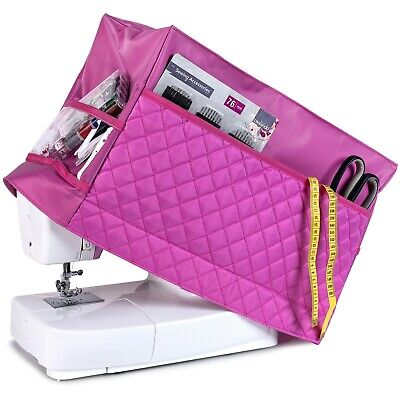 Sewing Machine Dust Cover for Most Standard Singer & Brother Machines (Pink)