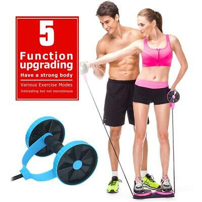 Abdominal Power Roll Trainer Waist Slimming Exerciser Core Double Wheel Fitness
