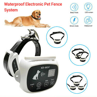 Waterproof Wireless Fence System Pet Dog Training Collar Containment Anti Lost