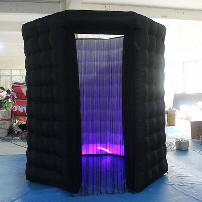 2.5M Inflatable LED Light Photo Booth Tent + Air Pump Wedding & Birthday 110V US