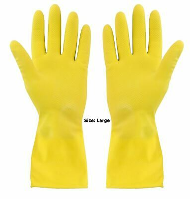 Rubber Gloves Yellow Large F81447. 305969L