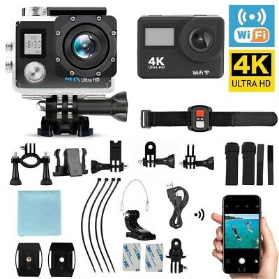 4K Full HD Action Sports Camera Wifi Waterproof DV DVR Camcorder Go Pro Remote
