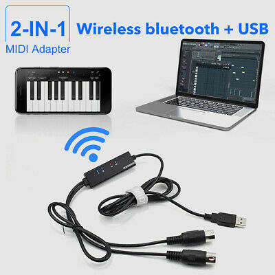 KEYBOARD TO PC Adapter MIDI 5-Pin to USB Music Recording Converter
