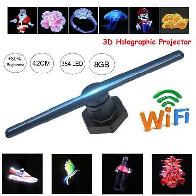 WiFi 384LED 3D Holographic Projector Display Fan Hologram Advertising Player 8GB