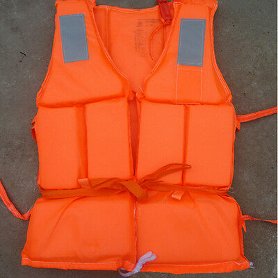 New Orange Prevention Inondation Adulte Mousse Gilet De Sauvetage Veste GilPS