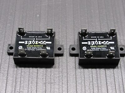 *Lot of 2* OPTO 22 Z240D10 Solid State Relay 3-32 VDC Control