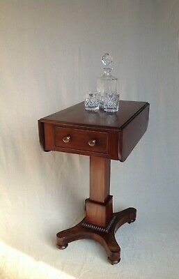 ANTIQUE VICTORIAN (c1870) MAHOGANY WORK HALL TABLE