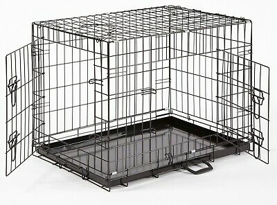 Dog Cage Crate Puppy Cages Small Medium Large XL XXL Carrier Crates Fold Flat