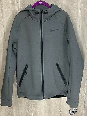 NEW $185 THERMA Sphere Max Grey Black Full Zip Hoodie Jacket