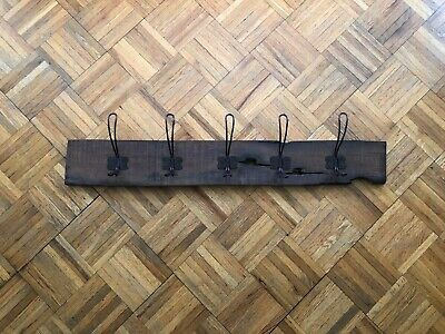 Old Farmhouse Rustic Vintage Wooden Coat Rack Hat Hangers Large Hooks HEAVYDUTY