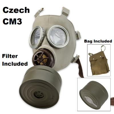 X-SMALL Czech Gas Mask With Filter and Canvass Bag - Fast Shipping!