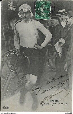 Carte Photo LUCIEN PETIT BRETON Cyclisme Cycliste Tour de France Rare