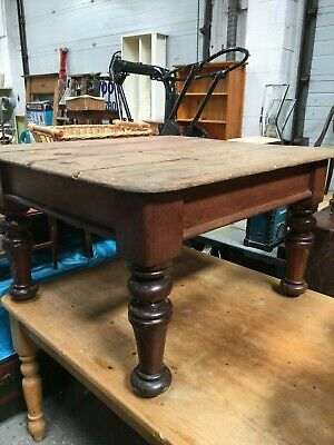 Lovely Antique Aged Victorian Farmhouse Kitchen Table