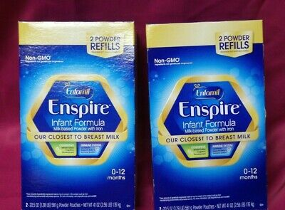 Enfamil Enspire Infant Formula Powder - 4 PACKS OF 20.5 Oz Refills  EXP - 07/19