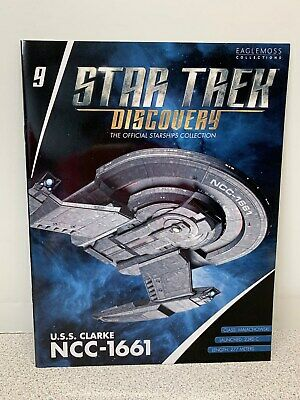 NIB Eaglemoss Star Trek Discovery Collection USS CLARK NCC-1661 With Magazine