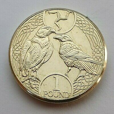 2017 Isle of Man Falcon & Raven £1 coin - Uncirculated