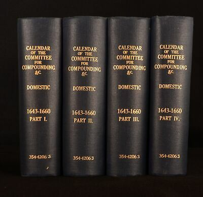 1889-92 4vol Calendar Committee for Compounding Mary Ann Green Very Scarce